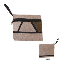Hemp-cotton patch work purse