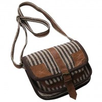 Hemp-leather small shoulder bag