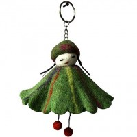 Doll pari felt key ring