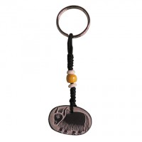 Buddha eye - Yak carved stone key ring