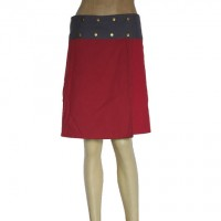 Red and Green reversible skirt