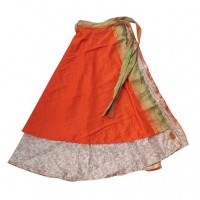 Wrapper style sari open skirt