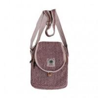 Hemp 3-zip utility bag