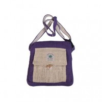 Hemp simple purple shoulder bag