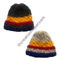 Cable design woolen cap