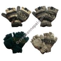 Assorted woolen cover gloves (with fllece lining)