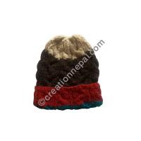 Cable design woolen cap2