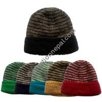Stripes woolen cap