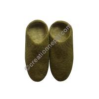 Plain felt slipper2