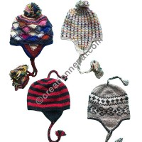 Assorted woolen ear hat