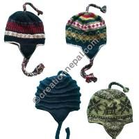 Woolen ear hat-with fleece lining