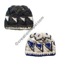 Triangle design soft woolen hat