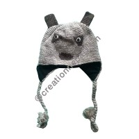 Animal design woolen ear hat