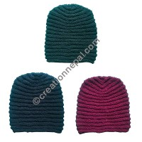 Plain woolen beanie