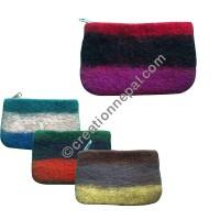 3-color way felt purse