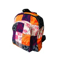 Printed cotton patch-work bag