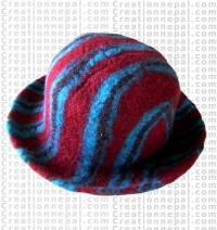 Felt stripe hat 5