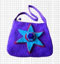 Star patch felt bag