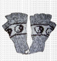 Woolen half finger gloves