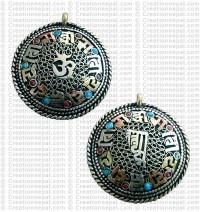 Newari round Amulet