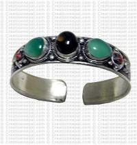 3 stone filigree bangle 1