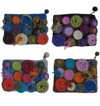 Assorted color felt purse1
