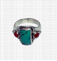 Turquoise stone finger ring 9