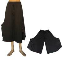 Cotton three quarter comfort trouser