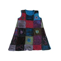 Razor-cut square patches dress