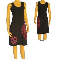 Mandala print embroidered dress