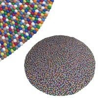 Round shape 2-meter felt rug