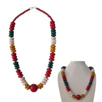 4 colour beads Tibetan necklace