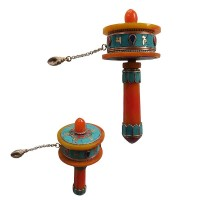 Amber and stone Small prayer wheel