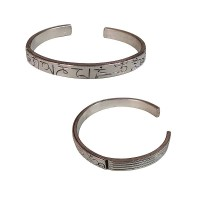 White metal Mantra bangle
