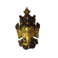 Golden color Ganesha mask