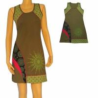 Patches design sun print dress