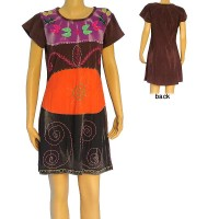 4-color joined hand embroidered dress