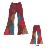 Patch work hand embroidered trouser