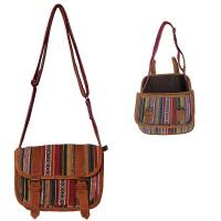 Leather piping Gheri shoulder bag