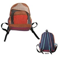 Leather-Hemp-Gheri backpack