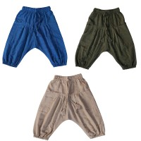 Plain cotton kids harem pant