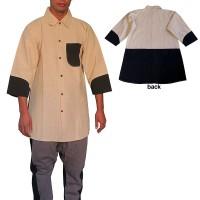 Cotton 3-quarter sleeves shirt