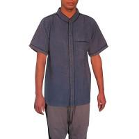 Cotton stone wash piping shirt