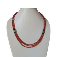 Coral pipe beads Tibetan necklace