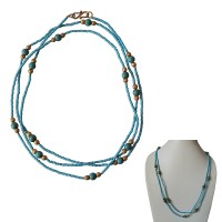 Single strand turquoise long pote