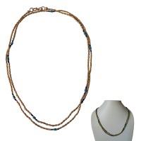 Single strand golden beads long necklace