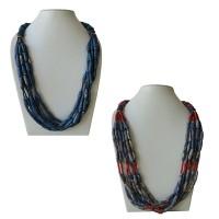 Tie dye bone beads necklace