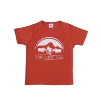 Yak & Yeti print cotton kids t-shirt