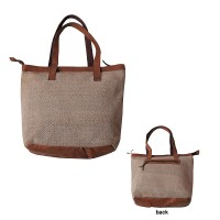 Hemp-leather tote bag
