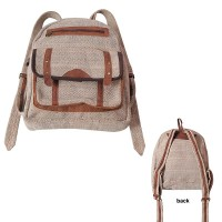 Natural hemp-leather day bag